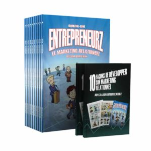 Pack 10 BD EntrepreneurZ Marketing Relationnel – 2 Livrets des 10 clés