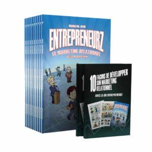 Pack 10 BD EntrepreneurZ Marketing Relationnel – 2 Livrets des 10 clés