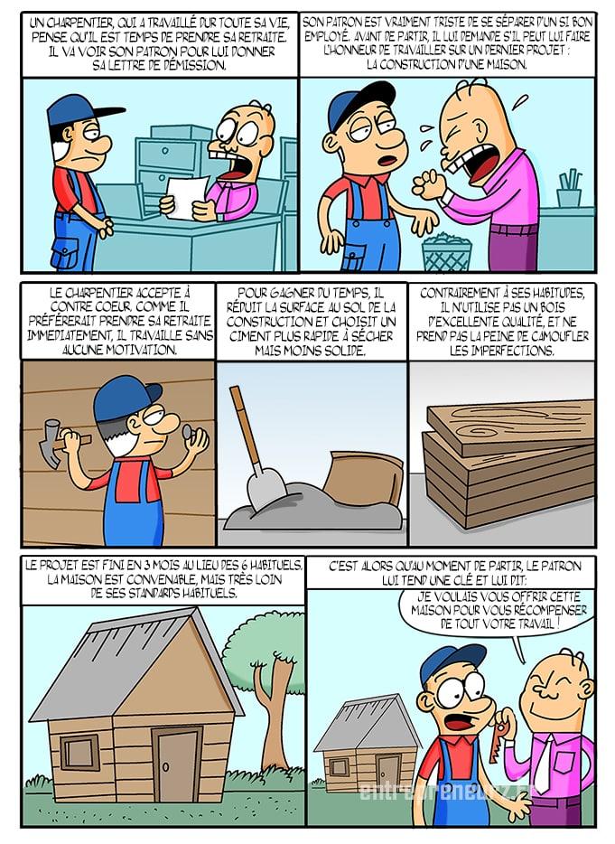 33-Le-charpentier Autodiscipline et l'histoire du charpentier