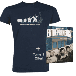 Tshirt officiel EntrepreneurZ Evolution + BD Tome 1 Offert